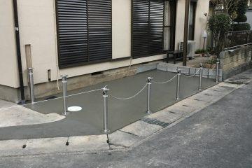 市川戸建ての駐車場舗装